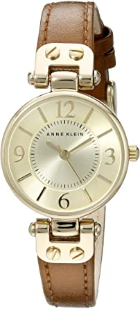 Anne Klein Womens 10 9442 Leather Strap Watch