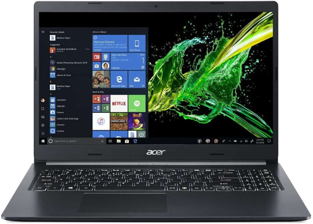 Acer Aspire 5 Slim Laptop, 15.6 inch Full HD IPS Display, 8th Gen Intel Core i7