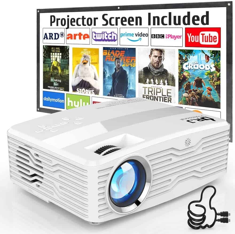 DR. J Professional 6800Lumens LCD Projector Full HD Projector