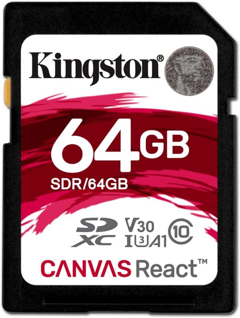 Kingston Canvas React 64GB SDXC Class 10 SD Memory Card
