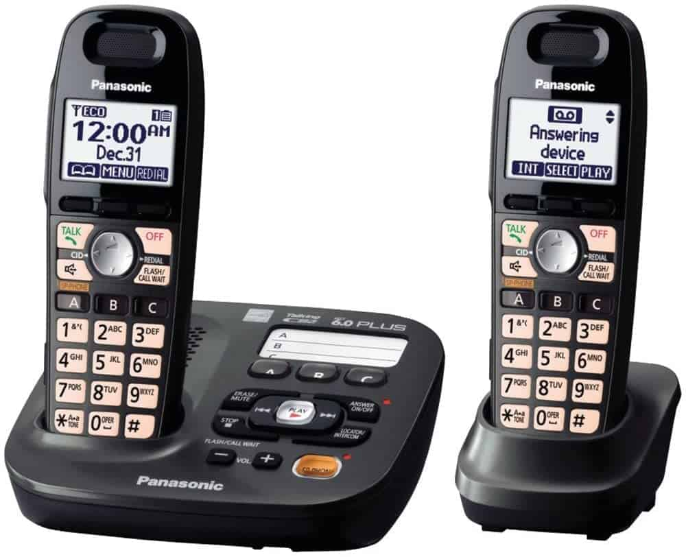 Panasonic DECT 6.0 Plus Cordless Amplified Phone with Digital Answering System