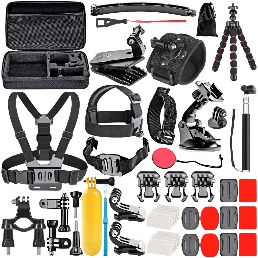 Neewer Upgraded 50-in-1 Action Camera Accessory Kit Compatible with GoPro